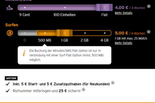 Congstar: LTE für 1€ Aufpreis im Prepaid-Bereich