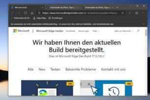 Microsoft Edge Dev 77.0.230.2 wieder mit einigen Verbesserungen und neuen Funktionen