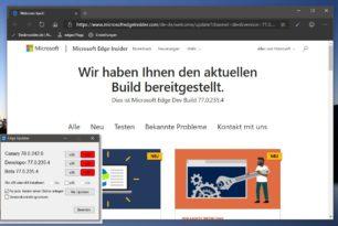Microsoft Edge Dev 77.0.235.4 mit vielen Verbesserungen