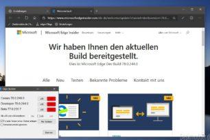 Microsoft Edge Dev 78.0.244.0 vollgepackt mit vielen Verbesserungen