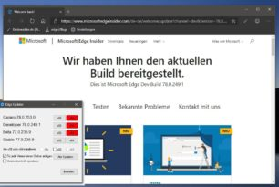 Microsoft Edge Dev 78.0.249.1 mit vielen Verbesserungen