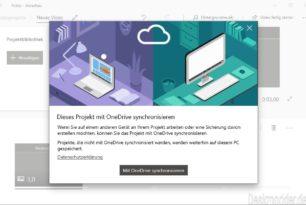 Fotos App: Video-Projekt mit OneDrive synchronisieren wird zum 10.01.2020 eingestellt