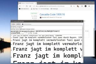 Cascadia Code Die neue Schriftart von Microsoft wurde nun bereitgestellt