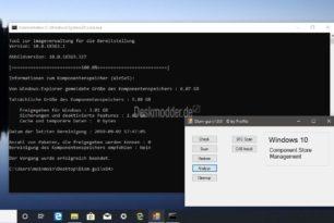 DISM-Gui – Kleiner Helfer für DISM-Befehle, sfc und Cab-Install für Windows 10 [Update auf Version 1.2.0]