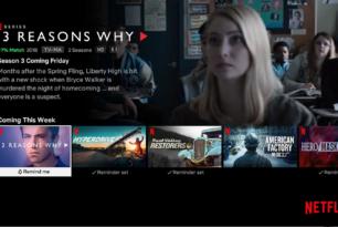 Netflix: Erinnerungsfunktion für Lieblingstitel im Anmarsch