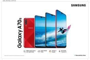 Samsung Galaxy A70s in Indien vorgestellt