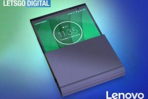 Lenovo mit neuem faltbaren Handy als Design-Muster