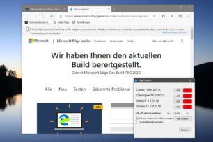 Microsoft Edge Dev 78.0.262.0 mit vielen Neuerungen wurde freigegeben