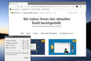 Microsoft Edge Dev 79.0.279.0 wieder mit einigen Verbesserungen