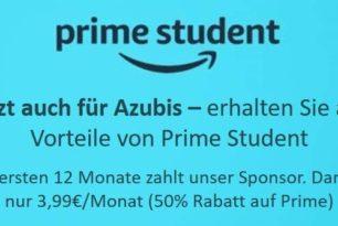 Amazon Prime Student: Jetzt auch für Auszubildende verfügbar