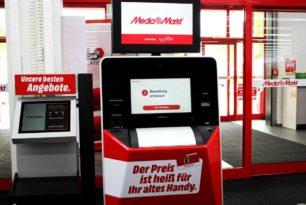 MediaMarkt: Neuer Automat tauscht alte Smartphones gegen Geschenkekarte