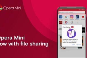 Opera Mini Fotos, Video, Musik kann man nun offline teilen
