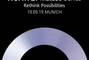 Huawei Mate 30 Serie: Präsentation am 19.September
