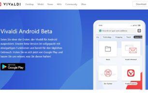 Vivaldi Android Beta steht im Play Store zum Download bereit