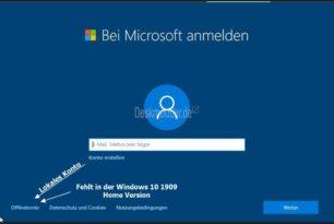 Windows 10 1909 Home mit einem lokalen Konto erstellen – Anleitung [2.Update]
