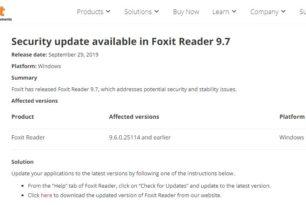 Foxit Reader 9.7 behebt schwere Sicherheitslücken