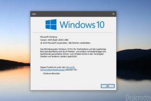 KB4517245 – Feature-Update auf die Windows 10 Version 1909 [Neue Version Update 8.10.2019]