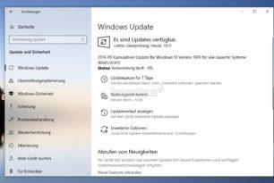 KB4524147 (Manueller Download) Windows 10 1903 18362.388 und Windows 10 1909 18363.388