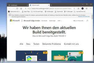 Microsoft Edge Dev 79.0.287.2 wieder mit vielen Verbesserungen
