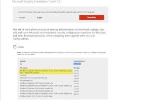 """Anpassungen im """"Microsoft Security Compliance Toolkit"""" wurden vorgenommen"""