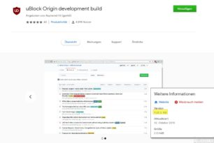 uBlock Origin Dev 1.22.5.102 wieder im Chrome Web Store