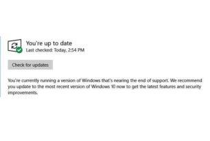 Windows 10 1803 bekommt nun die Nachricht, dass der Support ausläuft