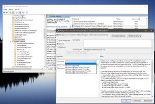 Webseiten können vom Internet Explorer 11 auf den Edge per Gruppenrichtlinie umgeleitet werden