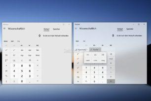 Windows 10 Rechner App 10.1909.1.0 mit neuen Menüs