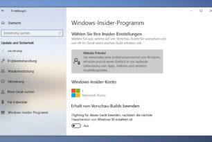Windows 10 Slow Ring Nutzer können nun zur Windows 10 1909 18363.418 wechseln