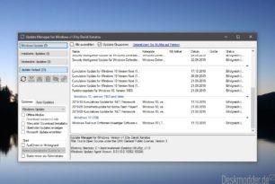 WuMgr 1.0 ist erschienen – Windows 10 Updates kontrollieren und manuell installieren