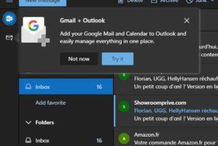 GMail in Outlook.com integrieren ist nun möglich