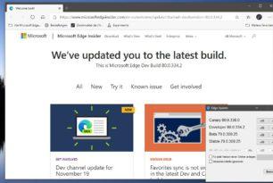 Microsoft Edge 80.0.334.2 im Dev Channel erschienen