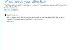Realtek Bluetooth Treiber behindern ein Update auf die Windows 10 1909 oder 1903 [Workaround]