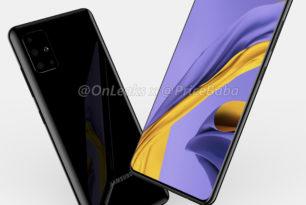 Samsung Galaxy A51: Render-Bilder & Render-Video zeigen vermeintliches Design vom kommenden Mittelklasse-Smartphone