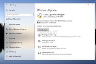 Windows 10 19013.1122 als erste 20H1 im Slow Ring angekommen
