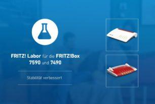 FRITZ!Box 7590 und 7490 mit einem kleinen Update: FRITZ!OS 7.19-74232 / 7.19-74231 (Labor)