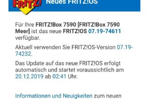 AVM: Neue Laborversion für FRITZ!Box 7590 & 7490