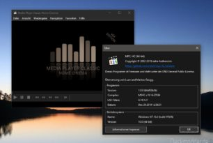 Media Player Classic (MPC-HC) 1.9.0 jetzt auch mit dunklem Theme