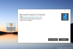 Microsoft UI Xaml 2.3 ist im Microsoft Store