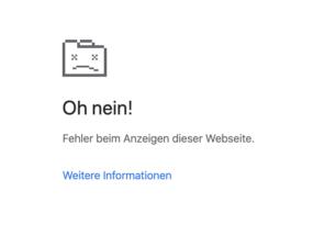 Oh nein! Chrome-Fehlerseiten bald mit Fehlercodes