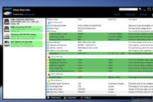 Clear Disk Info: Infos und Zustand der HDD, SSD oder Sticks auslesen