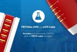 FRITZ!Box 6590 Cable und 6490 Cable mit einem Labor Update