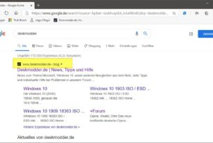 Google Suche: Fav Icon, Link oder die ganze Zeile entfernen