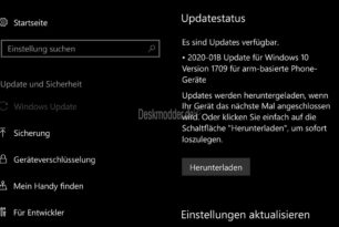KB4535289 (2020-01B) Windows 10 Mobile 15254.603 – Das war es nun