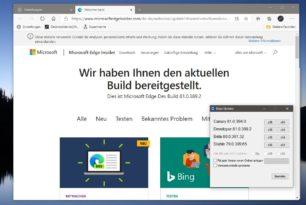 Microsoft Edge 81.0.389.2 im Dev Channel erschienen + Wallpaper