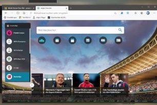 Microsoft Edge: Fußball News, Tabellen und Spielpäne als Neue Tab Seite einrichten