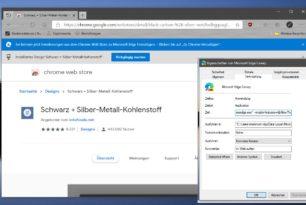 Microsoft Edge Theme aus dem Chrome Web Store installieren