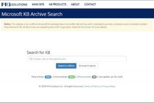 Microsoft KB Archive Service – Alte KB-Artikel mit den Tipps und Anleitungen