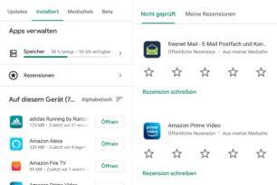 Google Play Store: Neuer Bereich für Rezensionen eingeführt