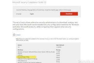 Security Baseline (Final) für den Microsoft Edge steht zum Download bereit